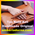 tas selempang kulit asli handmade